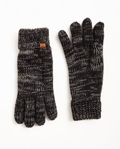 Gants gris-noir